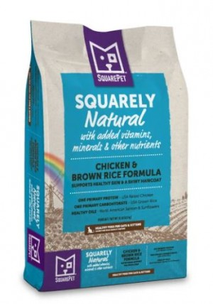 10LB SQUAREPET SQUARELY NATURAL CHICKEN & RICE DRY CAT FOOD