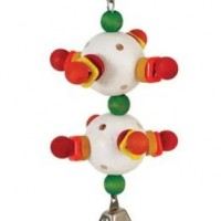 CAITEC 3D DOUBLE BALL WITH BELL BIRD TOY
