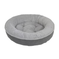 """27"""" X 27"""" X 7.5"""" GRAY/CHARCOAL MAGGIE DONUT DOG BED"""