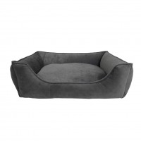 """26"""" X 22"""" X 8"""" GRAY MAX DELUXE LOUNGER DOG BED"""