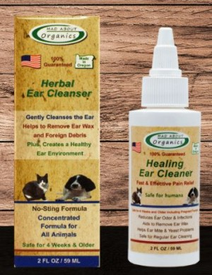 2oz MAD ABOUT ORGANICS CANINE/CAT EAR CLEANER